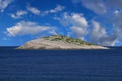 Один сиротливый остров Стоковое фото RF