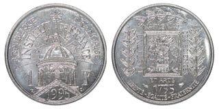 Один французский франк стоковые изображения rf