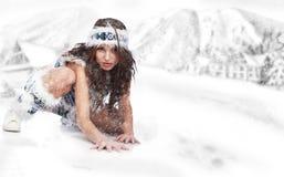 одичалая женщина зимы Стоковая Фотография RF