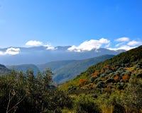 Одичалая земля горы острова Kefalonia Стоковое фото RF