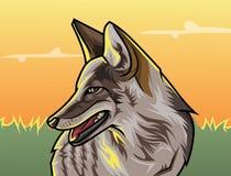 Одичалая иллюстрация вектора стиля GTA волка бесплатная иллюстрация