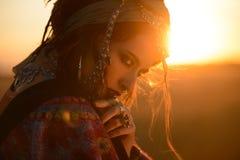 Одичалая красота цыганина стоковая фотография rf