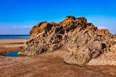 Одичалый пляж стоковое фото rf