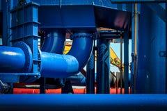 Однако голубые трубы Стоковые Фотографии RF