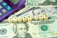 Одна долларовая банкнота и налоги в Америке стоковое изображение