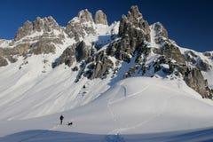 одна зима гор стоковое изображение rf