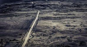 Одна из дорог de Ла Fournaise Piton Стоковое фото RF