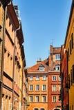Одна из улиц в Варшаве, Польша Стоковые Фотографии RF