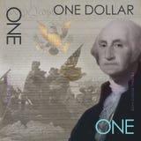 Одна концепция Джордж Вашингтон долларовой банкноты Стоковое Изображение RF