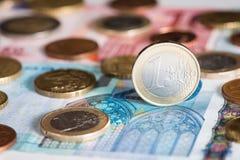 Одна монетка евро Стоковые Изображения RF