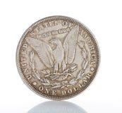 Одна монетка серебряного доллара стоковая фотография