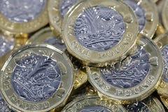 Одна монетка фунта - великобританская валюта Стоковое Изображение RF