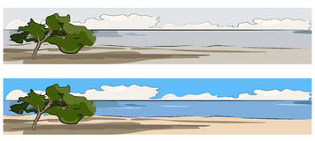 одна сеть вала mediterraneo знамени Стоковая Фотография