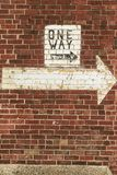 Одна стена пути Стоковое Фото