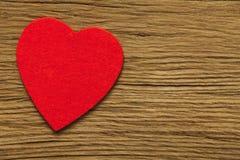 Одно большое красное сердце Стоковые Фото
