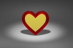 Одно сердце золота Стоковое Изображение RF
