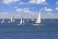 Одно часто самое большое regata парусника в мире стоковое фото rf