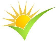 одобренное солнце силы иллюстрация вектора