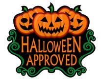одобренное уплотнение halloween иллюстрация штока