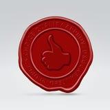 одобренный воск штемпеля запечатывания печати красный Стоковое Изображение RF