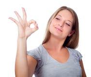 Одобренный жест Стоковое Изображение