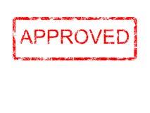 одобренный красный цвет grunge Стоковое Фото