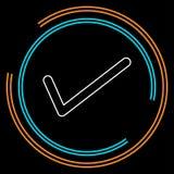 Одобренный символ контрольной пометки вектора - да или ок - иллюстрация вектора
