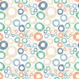 Одуванчики field безшовные круги предпосылки бесплатная иллюстрация