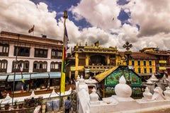18-ое августа 2014 - висок Boudhanath в Катманду, Непале Стоковая Фотография