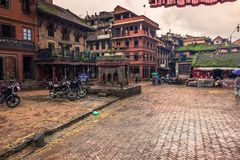 18-ое августа 2014 - квадрат в Bhaktapur, Непале Стоковое Фото