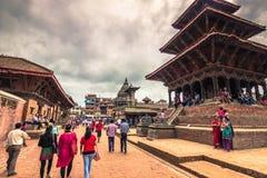 18-ое августа 2014 - королевский квадрат Patan, Непала Стоковая Фотография