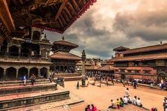 18-ое августа 2014 - королевский квадрат Patan, Непала Стоковые Фото