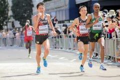 ` 17 6-ое августа - марафон чемпионатов атлетики мира Лондона: Inoue Стоковое фото RF