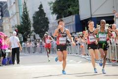 ` 17 6-ое августа - марафон чемпионатов атлетики мира Лондона: Inoue Стоковое Изображение
