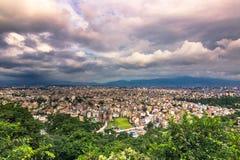 19-ое августа 2014 - панорама Катманду, Непала Стоковая Фотография RF