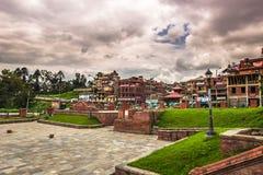 18-ое августа 2014 - сад виска Pashupatinath в Катманду Стоковое Изображение RF