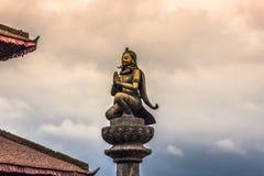18-ое августа 2014 - статуя божества в Patan, Непале Стоковое Фото