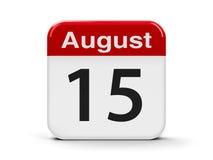 15-ое августа иллюстрация вектора