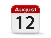 12-ое августа Стоковая Фотография RF