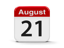 21-ое августа Иллюстрация вектора