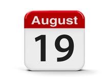 19-ое августа Иллюстрация штока