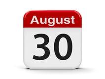 30-ое августа иллюстрация вектора
