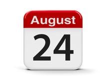 24-ое августа Стоковое фото RF
