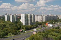 9-ое августа 2013: Foto области Vladikino и Otradnoe Москвы ru Стоковое Фото