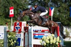 *** 10-ое августа 2014 Grand Prix CSIO-W в Братиславе, Словакии Стоковые Изображения