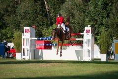 *** 10-ое августа 2014 Grand Prix CSIO-W в Братиславе, Словакии Стоковая Фотография RF