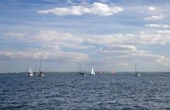 13-ое августа 2017 Leigh на море, Essex, Англии, наслаждаясь водными видами спорта на лимане Стоковые Изображения RF