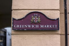 Лондон, Великобритания 12-ое апреля 2019 Рынок Гринвич стоковая фотография