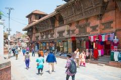 22-ое апреля 2018 - Непал:: Дворец Hanuman Dhoka - квадрат Kat Durbar стоковая фотография