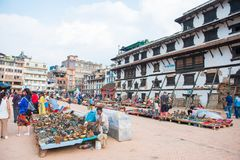 22-ое апреля 2018 - Непал:: Дворец Hanuman Dhoka - квадрат Kat Durbar стоковые изображения rf